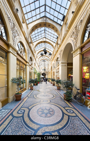Shops in the Galerie Vivienne in the 2nd Arrondissement, Paris, France - Stock Photo