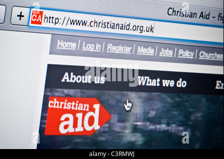 Close up of the Christian Aid logo as seen on its website. (Editorial use only: print, TV, e-book and editorial - Stock Photo