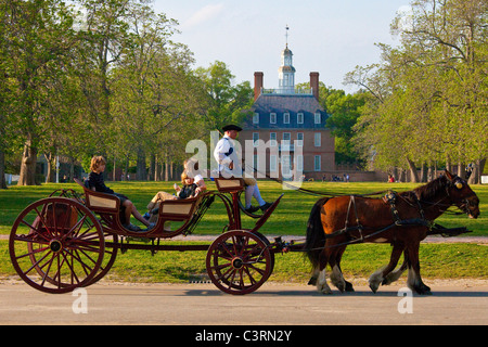 Governor's palace in Colonial Williamsburg, Virginia - Stock Photo