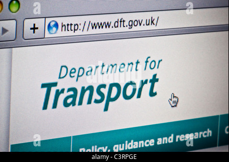 Close up of the DfT logo as seen on its website. (Editorial use only: print, TV, e-book and editorial website). - Stock Photo