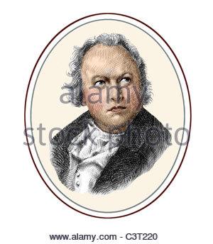 William Blake 1757 1827 English Poet Painter Engraver Illustration - Stock Photo
