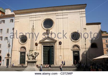 italy, rome, church of santa maria sopra minerva - Stock Photo