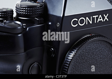 Legendary Contax RX 35mm SLR classic film camera designed by Porsche - Stock Photo