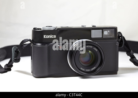Film Camera. Konica Hexar AF 35mm rangefinder - Stock Photo
