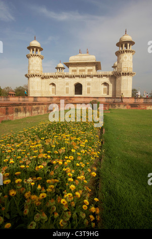 Agra Uttar Pradesh India Baby Taj Itimad Ud Daulah Tomb of Mizra Ghiyas Beg - Stock Photo