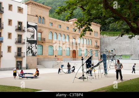 Playground San Sebastian Spain Spanish Basque Country town city - Stock Photo