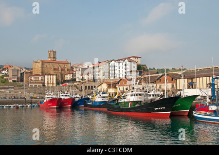 Getaria Spain old fisherman boat vessel port fish - Stock Photo