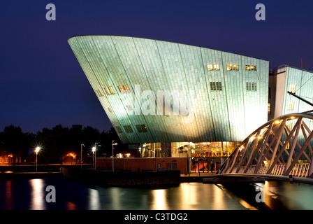 The New Metropolis at dawn, Amsterdam, Netherlands - Stock Photo