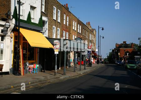 Highgate High Street, Highgate, London, UK - Stock Photo