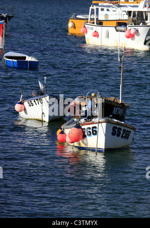 Fishing Boats in St Ives Harbour, Cornwall - Stock Photo