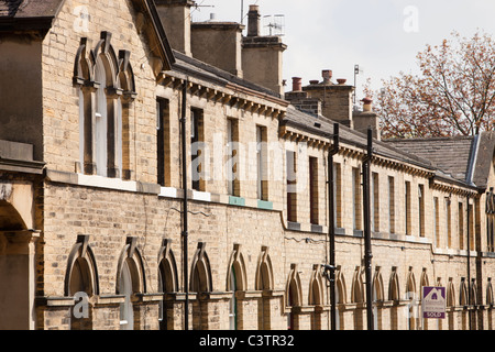 Workers houses near Salts mill in Saltaire, Yorkshire, UK. - Stock Photo