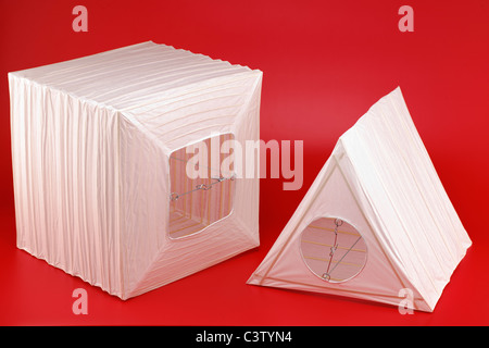 Triangular wire and paper lightshade Stock Photo, Royalty Free ...