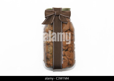 Chocolate Chip Cookies in Jar - Stock Photo