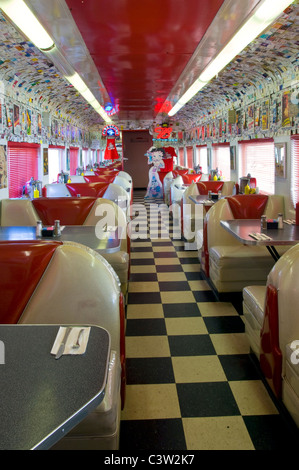 1950 S Style Rock N Roll Diner In An Old Converted Train