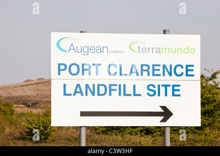 A landfill site on Teeside, UK. It is increasingly difficult to find sites and increasingly expensive to landfill - Stock Photo