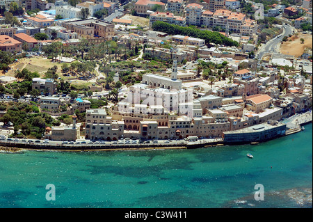 Aerial Photography of Israel: View of old Jaffa, Tel Aviv, Israel - Stock Photo