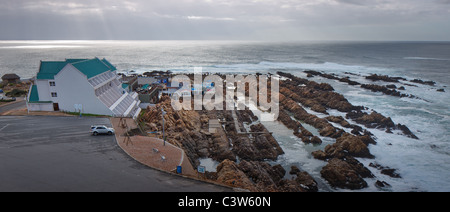 The well known Point Hotel on the rocks, Mossel Bay, Cape Province, South Africa