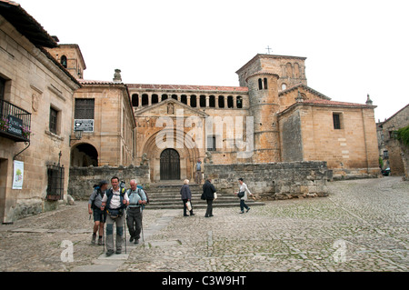 Santillana del Mar Cantabria Spain Spanish town - Stock Photo