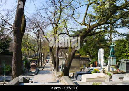Pere Lachaise Cemetery, 20th Arrondissement, Paris, France - Stock Photo