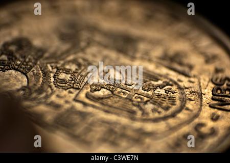 Serbian money - Dinar (close up of a coin) - Stock Photo