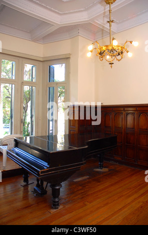 Grand piano in a luxury home with stylish decor - Stock Photo