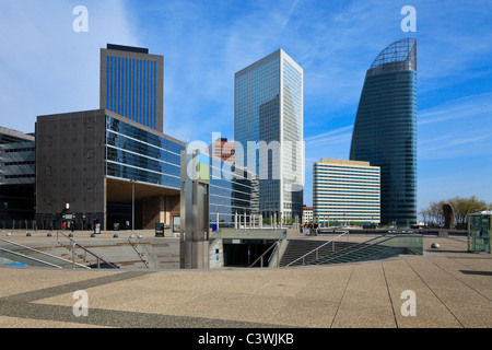 Skyscrapers in famous financial and business district of Paris - La Defense. - Stock Photo