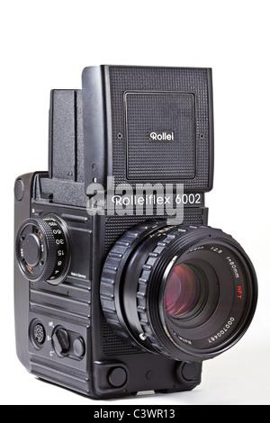 Film Camera. Rolleiflex 6002 professional medium format camera - Stock Photo