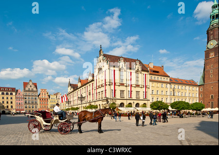 Market Square, Old Town, Wroclaw, Poland - Stock Photo