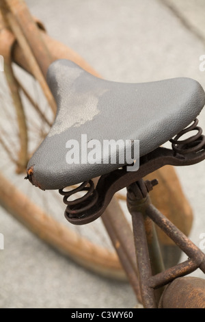Rusty Bicycle close up shot - Stock Photo