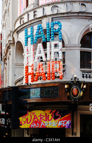 'Hair' the Musical, Gielgud theatre, Shaftesbury Avenue, London, England, UK, Europe - Stock Photo