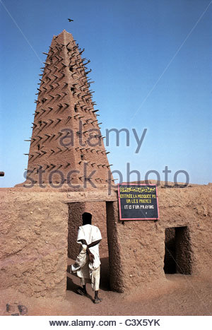 Niger, Agadez, mosque - Stock Photo