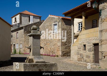Portugal, Beira Alta, historic village of Castelo Mendo - Stock Photo