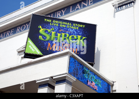 Shrek the Musical at Theatre Royal, Drury Lane, London - Stock Photo