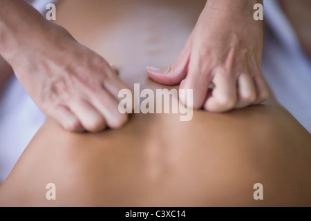 Massage detail of hands - Stock Photo
