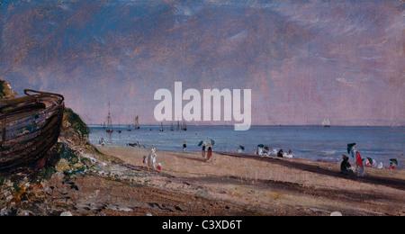 Brighton Beach, by John Constable. Sussex, England, 1824 - Stock Photo