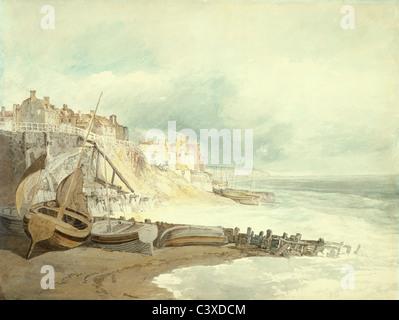 Brighthelmstone, by J.M.W. Turner. Brighton, England, early 19th century - Stock Photo