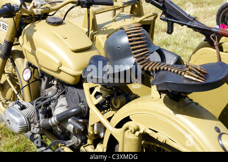 German Army (Wehrmacht) BMW R75 motorcycle and sidecar as used by the Afrika Corps. - Stock Photo