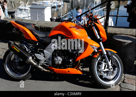 Orange Z1000 Kawasaki Motorcycle