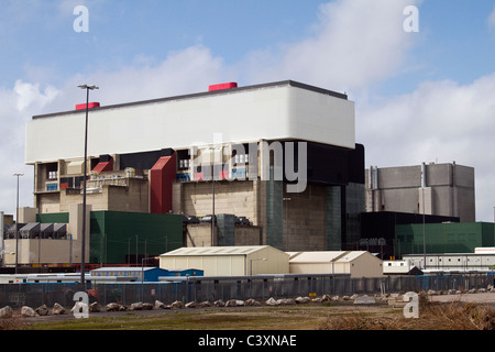 Heysham 2 Power Station advanced gas-cooled reactor (AGR) _ Coastal Power Station at Heysham in Lancashire, UK - Stock Photo