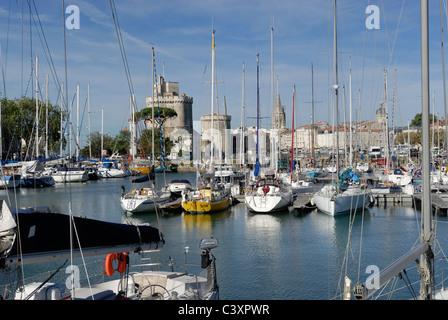 La Rochelle Old Port Harbor, Vieux Port,  Charente-Maritime France - Stock Photo