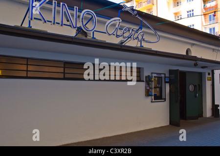 Kino Aero cinema exterior Zizkov district Prague Czech Republic Europe - Stock Photo