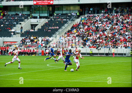 Football match Ajax Cape Town vs Maritzburg final match 2011 season Cape Town Stadium South Africa - Stock Photo