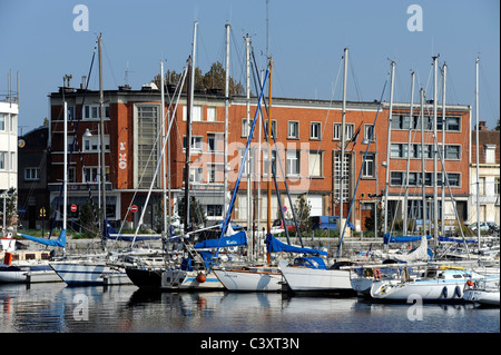Dunkerque,Nord,Nord-Pas-de-Calais,France.Harbor for pleasure boats - Stock Photo