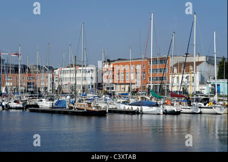 Dunkerque, Nord, Nord-Pas-de-Calais, France, harbor for pleasure boats - Stock Photo