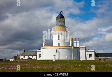 Lighthouse at Chanonry Point on the Black Isle near Inverness, Scotland, UK. Built in 1846, unmanned and automated - Stock Photo