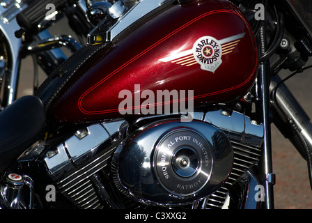Harley Davidson detail - Stock Photo