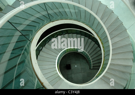 Spiral Stairs or Staircase Museum of Asian Arts Nice France - Stock Photo
