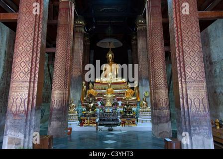 Wat Yai Suwannaram Petcheburi Thailand - Stock Photo