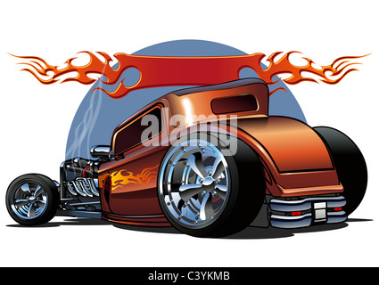 cartoon hotrod - Stock Photo