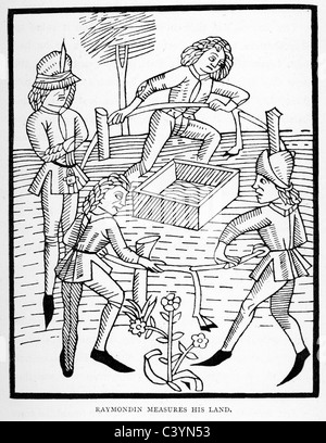 Medieval woodcut from the story of Melusine. The Mystery ...